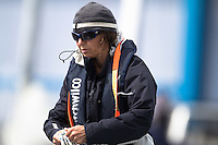 Midnight Express crew Bretta Jarden at the Wellington restart of Round North Island two-handed yacht race. Wellington, New Zealand. 2 March 2011. Photo: Gareth Cooke/Subzero Images