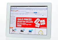 Apple Ipad showing Ebay Auction Website  - Jan 2013.