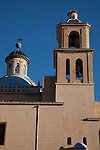 Tower and Dome of St Nicholas Cathedral Church in Alicante, Spain