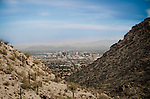 Scenic view of Phoenix, Arizona from South Mountain