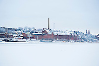 Stockholm waterfront in winter, Sweden