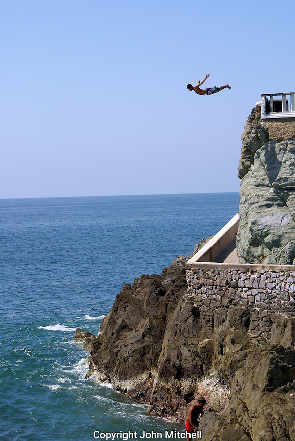 Cliff divers at Clavadista in Mazatlan, Sinaloa, Mexico