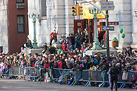 NEW YORK - NOVEMBER 24:  The crowd on Central Park West waiting to get a view of the Macy's Thanksgiving Day Parade on Thursday, November 24, 2011.