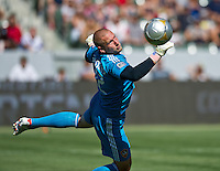 CARSON, CA - June 17, 2012: LA Galaxy goalie Josh Saunders (12) during the LA Galaxy vs Portland Timbers match at the Home Depot Center in Carson, California. Final score LA Galaxy 1, Portland Timbers 0.
