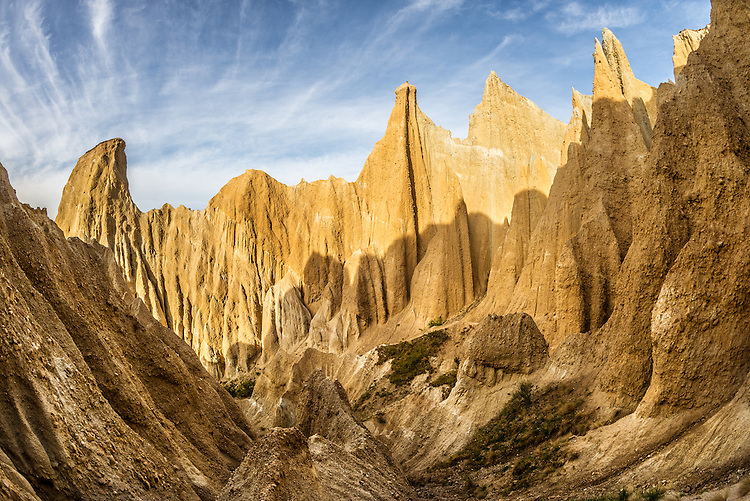 The Clay Cliffs near Omarama are spectacular close up, South Canterbury, New Zealand