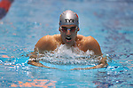 24 MAR 2012:  Carlos Almeida of the University of Louisville in action during the 200 yard breast stroke race during the Division I Men's Swimming and Diving Championship held at the Weyerhaeuser King County Aquatic Center in Seattle, WA. Almeida won the race with a time of 1:51.88  Rod Mar/ NCAA Photos