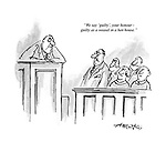 """""""We say 'guilty', your honour - guilty as a weasel in a hen house."""""""