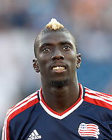 New England Revolution midfielder Saer Sene (39). In a Major League Soccer (MLS) match, Toronto FC defeated New England Revolution, 1-0, at Gillette Stadium on July 14, 2012.