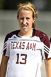 09 September 2011: Texas A&M's Leigh Edwards. The Duke University Blue Devils defeated the Texas A&M Aggies 7-2 at Koskinen Stadium in Durham, North Carolina in an NCAA Division I Women's Soccer game.
