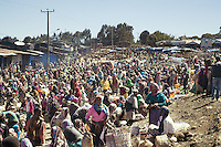 Ethiopia. Southern Nations, Nationalities, and Peoples' Region. Bojeber Village. High altitude: 3'250 metres. Crowd on market day. Southern Nations, Nationalities, and Peoples' Region (often abbreviated as SNNPR) is one of the nine ethnic divisions of Ethiopia. 15.11.15 © 2015 Didier Ruef