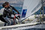 ISAF Sailing World Cup Hy&egrave;res - F&eacute;d&eacute;ration Fran&ccedil;aise de Voile. 470, Jeremie Mion<br /> Sofian Bouvet.