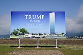Bauprojekt von Donald Trump im Hafen von Batumi. / Building project in Batumi.
