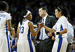 UK head coach Matthew MItchell thinks about his next move after a foul during the second half of the women's basketball game vs. LSU Memorial Coliseum , in Lexington, Ky., on Sunday, January 27, 2013. Photo by Genevieve Adams  | Staff.
