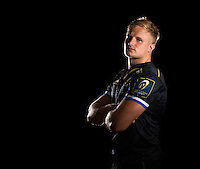 Max Northcote-Green poses for a portrait in the 2015/16 European kit during a Bath Rugby photocall on September 8, 2015 at Farleigh House in Bath, England. Photo by: Patrick Khachfe / Onside Images