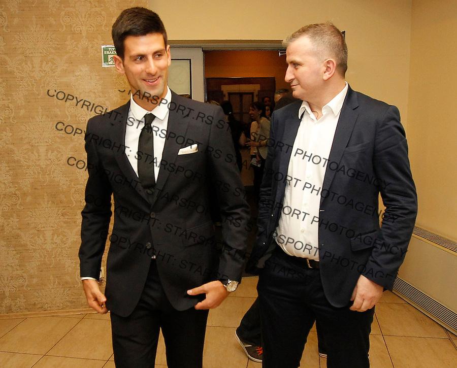 Davis Cup 2014 first round<br /> Srbija v Hrvatska<br /> Official Dinner<br /> Novak Djokovic and Goran Djokovic (R)<br /> Kraljevo, 04.03.2015.<br /> Foto: Srdjan Stevanovic/Starsportphoto.com&copy;
