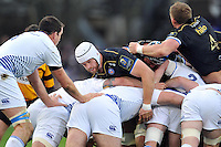 Dave Attwood of Bath Rugby takes part in a maul. European Rugby Champions Cup match, between Bath Rugby and Leinster Rugby on November 21, 2015 at the Recreation Ground in Bath, England. Photo by: Patrick Khachfe / Onside Images