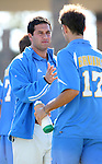 UCLA head coach Jorge Salcedo and Kiel McClung (17) on Sunday, November 26th, 2006 at Koskinen Stadium in Durham, North Carolina. The University of California Los Angeles Bruins defeated the Duke University Blue Devils 3-2 in sudden death overtime in an NCAA Division I Men's Soccer Championship quarterfinal game.