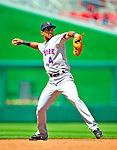 7 June 2009: New York Mets' shortstop Wilson Valdez in action during a game against the Washington Nationals at Nationals Park in Washington, DC. The Mets shut out the Nationals 7-0 to take the third game of the weekend series. Mandatory Credit: Ed Wolfstein Photo