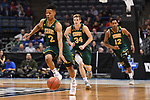 MILWAUKEE, WI - MARCH 16:  Vermont Catamounts guard Trae Bell-Haynes (2) leads an offensive run during the first half of the 2017 NCAA Men's Basketball Tournament held at BMO Harris Bradley Center on March 16, 2017 in Milwaukee, Wisconsin. (Photo by Jamie Schwaberow/NCAA Photos via Getty Images)