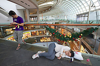 Singapore. Marina Bay Sands. Having a nap at the Shopping Mall.
