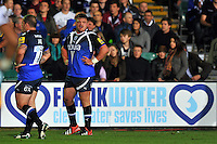 Aviva Premiership match, between Bath Rugby and Northampton Saints on September 14, 2012 at the Recreation Ground in Bath, England. Photo by: Patrick Khachfe / Onside Images
