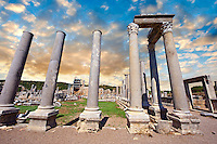 Columns of the Roman Agora of Perge. Perge (Perga) archaeological site, Turkey
