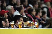 FUSSBALL   1. BUNDESLIGA  SAISON 2011/2012   30. Spieltag FC Augsburg - VfB Stuttgart           10.04.2012 Bierbecher in der Augsburger SGL Arena