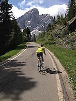 Passo delle Erbe, in the heart of the Dolomites, Corvara in Badia, Südtirol, Italy.