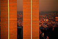 NYC, NY, World Trade Center, Twin Towers, designed by Minoru Yamasaki, International Style II