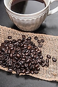 Stock Photo of Coffee and Beans