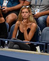 FLUSHING NY- SEPTEMBER 06: Clemence Bertrand is seen watching Gael Monfils Vs Lucas Pouille on Arthur Ashe Stadium at the USTA Billie Jean King National Tennis Center on September 6, 2016 in Flushing Queens. Credit: mpi04/MediaPunch