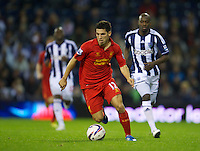 WEST BROMWICH, ENGLAND - Wednesday, September 26, 2012: Liverpool's Daniel Pacheco in action against West Bromwich Albion during the Football League Cup 3rd Round match at the Hawthorns. (Pic by David Rawcliffe/Propaganda)
