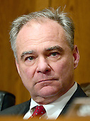 United States Senator Tim Kaine (Democrat of Virginia) a member of the US Senate Committee on Health, Education, Labor and Pensions during the hearing  considering the confirmation of Betsy DeVos of Grand Rapids, Michigan to be US Secretary of Education on Capitol Hill in Washington, DC on Tuesday, January 17, 2017.<br /> Credit: Ron Sachs / CNP