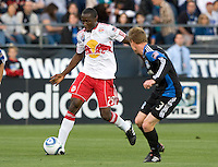 Salou Ibrahim of Red Bulls in action during the game against the Earthquakes at Buck Shaw Stadium in Santa Clara, California.  San Jose Earthquakes defeated New York Red Bulls, 4-0.