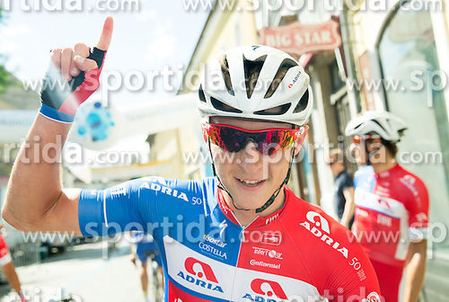Winner Marko Kump (SLO) of Adria Mobil celebrates after the Stage 4 of 22nd Tour of Slovenia 2015 from Rogaska Slatina to Novo mesto (165,5 km) cycling race  on June 21, 2015 in Slovenia. Photo by Vid Ponikvar / Sportida