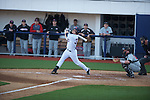 Ole Miss' Matt Snyder (33) bats vs. Arkansas State in baseball action at Oxford-University Stadium in Oxford, Miss. on Tuesday, February 21, 2012. Ole Miss won the home opener 8-1 to improve to 2-1 on the season. Arkansas State dropped to 0-3.