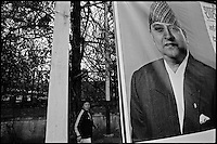 Kathmandu, Nepal, February 2005.On February 1st, King Gyanendra has decreted a state of emergency, suspending all democratic rights.