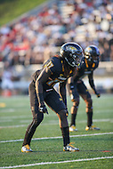 Towson, MD - September 9, 2016: Towson Tigers cornerback Justice Pettus-Dixon (17) in action during game between Towson and St. Francis at Minnegan Field at Johnny Unitas Stadium  in Towson, MD. September 9, 2016.  (Photo by Elliott Brown/Media Images International)