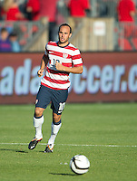 03 June 2012: US Men's National Soccer Team forward Landon Donovan #10 in action during an international friendly soccer match between the United States Men's National Soccer Team and the Canadian Men's National Soccer Team at BMO Field in Toronto.