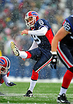 3 January 2010: Buffalo Bills' place kicker Rian Lindell connects for a field goal during a game against the Indianapolis Colts on a cold, snowy, final game of the season at Ralph Wilson Stadium in Orchard Park, New York. The Bills defeated the Colts 30-7. Mandatory Credit: Ed Wolfstein Photo