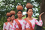 Dancers perform a traditional Cham bowl dance at the Po Nagar Cham Towers in Nha Trang, Vietnam. July 14, 2011.
