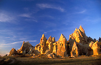 Goreme, Cappadocia, Nevsehir, Turkey. Although toursim is upcoming, many people still live of their traditional livelyhood. they work the fields in the fairy chimney landscape of Cappadocia and the Goreme National Park. Photo by Frits Meyst / MeystPhoto.com