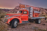 Coca Cola Bottling Co Flatbed Chevrolet Truck -  Dusk - Eldorado Canyon - Nelson NV - HDR