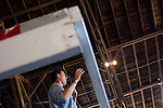 Republican presidential hopeful Rick Santorum campaigns on Saturday, August 6, 2011 in Roland, IA.