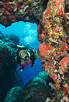 Scuba diver at Eagle Shoals<br />