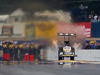 Oct 2, 2016; Mohnton, PA, USA; NHRA top fuel driver Doug Kalitta during the Dodge Nationals at Maple Grove Raceway. Mandatory Credit: Mark J. Rebilas-USA TODAY Sports