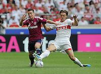 FUSSBALL   1. BUNDESLIGA  SAISON 2011/2012   1. Spieltag     06.08.2011 VfB Stuttgart - FC Schalke 04               Christian Gentner (re, VfB Stuttgart) gegen Alexander Baumjohann (FC Schalke 04)