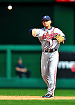 26 September 2010: Atlanta Braves infielder Omar Infante in action against the Washington Nationals at Nationals Park in Washington, DC. The Nationals defeated the pennant-seeking Braves 4-2 to take the rubber match of their 3-game series. Mandatory Credit: Ed Wolfstein Photo