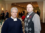 Waterbury, CT- 16 March 2017-031617CM09- Social moments from left,  Don Orsini, President of The Greater Waterbury Board of Realtors and Chris with Liberty Bank are photographed during The Neighborhood Housing Services of Waterbury Home Matters dinner and benefit at La Bella Vista inWaterbury on Thursday.   Christopher Massa Republican-American