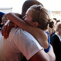 2012 USA Olympic Marathon Trials: post-race hug